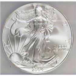 2004 AMERICAN SILVER EAGLE