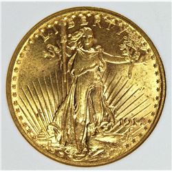 1914-S $20.00 GOLD SCARCE DATE