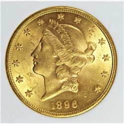 1896 $20.00 GOLD SCARCE DATE