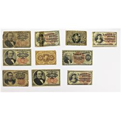 (10) FRACTIONAL CURRENCY
