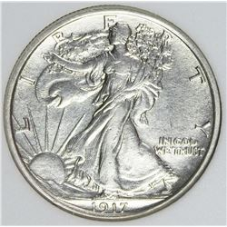 1917-D REVERSE WALKING LIBERTY HALF DOLLAR