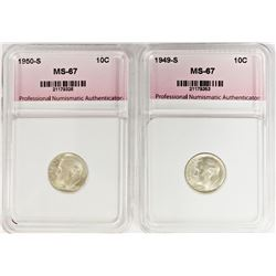 1950-S AND 1949-S DIMES: