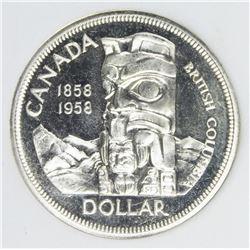 1958 RARE CANADA SILVER DOLLAR