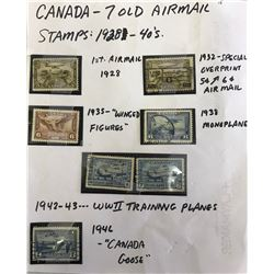 GR OF 7, 1928 - 1946 AIRMAIL STAMPS