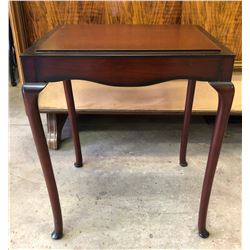BOMBAY COMPANY MAHOGANY FINISH SIDE TABLE