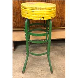 VINTAGE TIN WORK STOOL