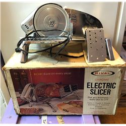 RIVAL MEAT SLICER - AS NEW
