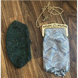 GR OF 2 VINTAGE BEADED & CHAIN-MAIL PURSES BY WHITING AND DAVIS