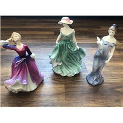 GR OF 3 ROYAL DOULTON FIGURINES