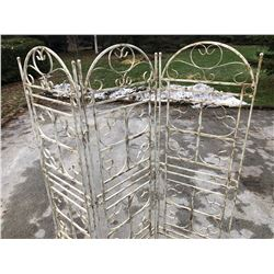 VINTAGE WROUGHT IRON SCREEN