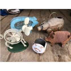 GR OF 5 TIN DECORATIVE PIGS