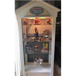 APPROX 6' ILLUMINATE CABINET HOUSING CIRCUS FIGURINES