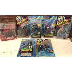 GR OF 7, VINTAGE SPAWN ACTION FIGURES - AS NEW