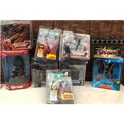 GR OF 8, VINTAGE SPAWN ACTION FIGURES - AS NEW