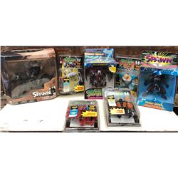 GR OF 7, VINTAGE SPAWN ACTION FIGURINES - AS NEW