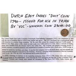 1790 DUTCH EAST INDIES DUIT COIN
