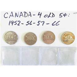 GR OF 6, 1952 - 1966 CDN 5 CENTS AND 1950 - 1967 CDN 10 CENTS