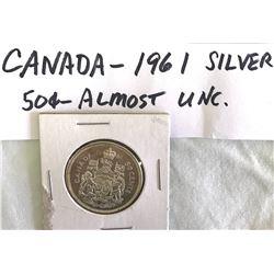 GR OF 7, 1940 - 1966 CDN 50 CENT PIECES