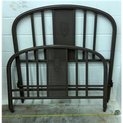 ANTIQUE DOUBLE IRON BED FRAME