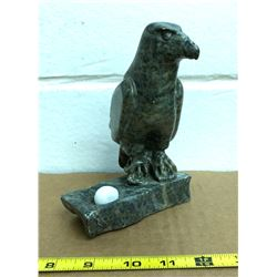 SIGNED NATIVE SOAPSTONE ART - EAGLE