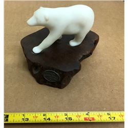 SIGNED NATIVE SOAPSTONE ART - POLAR BEAR