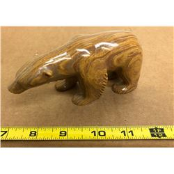 SIGNED NATIVE SOAPSTONE ART - BEAR