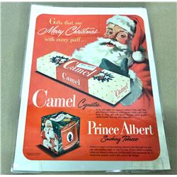 VINTAGE CHRISTMAS ADVERTISING - HARPER WHISKEY & PRINCE ALBERT TOBACCO