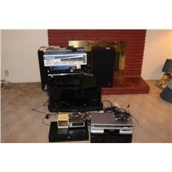 Eletronics, Panasonic, Pioneer & Sony DVD players & Speakers A