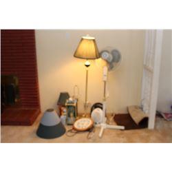 Assortment of Lamps & Fans A