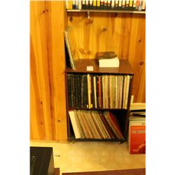 Small Book shelf with Assorted Vinyl Albums C