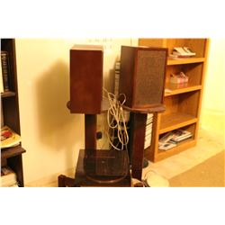 Speakers, Round Stands, Turntable & Drums A