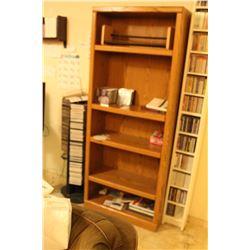 Wood Bookshelf & CD's B