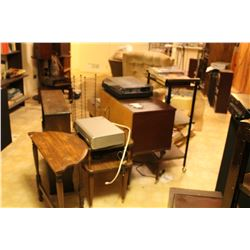 Sony TurnTable, VHS Player & telephone tables B