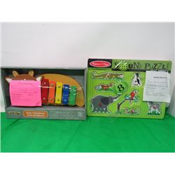CHILDRENS XYLEPHONE AND CHILDRENS SOUND PUZZLE