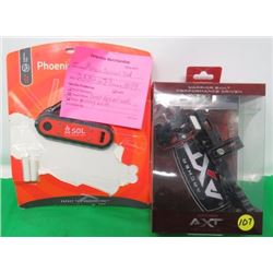 ARCHERY-BOW SIGHT AND PHEONIX SURVIVAL TOOL