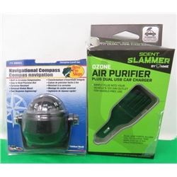 NAVAGATIONAL COMPASS AND OZONE AIR PURIFIER FOR CAR