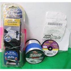 VELCRO TROLLING MOTOR TIE DOWN AND 2 ROOLS OF FISHING LINE