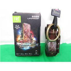 LIFEPROOF I-PHONE 7 CASE AND STUDDED LEATHER BELT (XL)