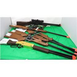 LOT OF 6 TOY RIFLES