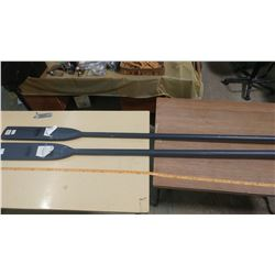 "2 FEATHERLITE OARS 83.5"" LONG"