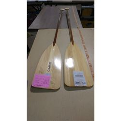 "2 CAVPRO WOODEN PADDLES 64"" LONG"