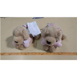 2 LULLABY PLUSH DOGS (DOESN'T WIND UP AND PLAY MUSIC)
