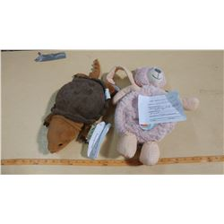 RABBIT BACKPACK AND SNAPPING TURTLE STUFFIE