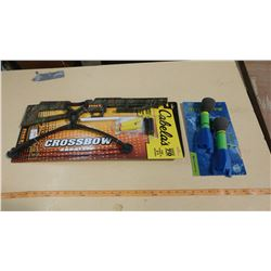 CABELAS FOAM SHOOTING CROSSBOW & FINGER ROCKET