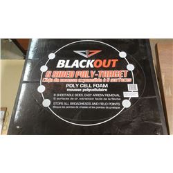 BLACKOUT 6 SIDED POLY TARGET