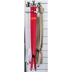 Qty 10+ Men's Red, White, Khaki Clip Suspenders