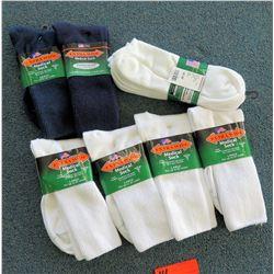 Qty 7 Men's Extra Wide Medical Socks in Black, White