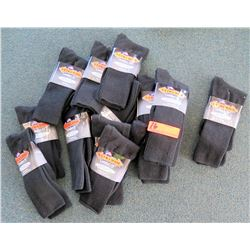 Qty 12+ Men's Extra Wide Black Comfort Fit Socks