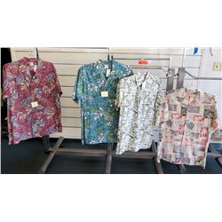 Qty 4 Aloha Shirts by  Go Barefoot Size L-Tall & XL-Tall