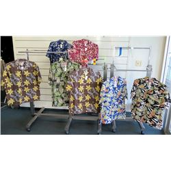 Qty 7 Aloha Shirts by Mamo, Go Barefoot, RJC  Size L-Tall - 2XL